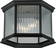 Vaxcel T0133 Kingston Textured Black Outdoor Flush Ceiling Light Fixture