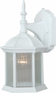 Vaxcel T0134 Kingston Textured White Exterior Wall Sconce Light