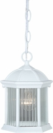 Vaxcel T0135 Kingston Textured White Outdoor Hanging Light Fixture