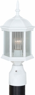 Vaxcel T0136 Kingston Textured White Exterior Post Light Fixture