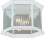 Vaxcel T0137 Kingston Textured White Outdoor Flush Mount Ceiling Light Fixture
