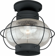 Vaxcel T0144 Chatham Retro Textured Black Exterior Overhead Lighting Fixture