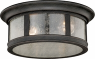 Vaxcel T0155 Hanover Traditional Brushed Iron Outdoor Ceiling Light