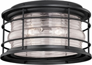 Vaxcel T0167 Hyannis Vintage Textured Black Outdoor Ceiling Lighting Fixture