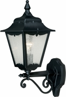 Vaxcel T0168 Whitney Traditional Textured Black Exterior Lighting Wall Sconce