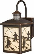 Vaxcel T0177 Mayfly Craftsman Burnished Bronze Outdoor Smart Lighting Residential Security Lighting