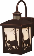 Vaxcel T0181 Bozeman Craftsman Burnished Bronze Outdoor Motion Sensor Wall Sconce w/ Photocell