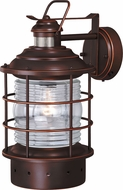 Vaxcel T0188 Hyannis Nautical Burnished Bronze Exterior Motion Sensor Wall Sconce Lighting w/ Photocell
