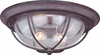 Vaxcel T0220 Dockside Weathered Patina Exterior Flush Mount ...