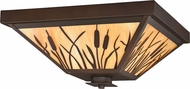 Vaxcel T0235 Bulrush Burnished Bronze Exterior Ceiling Light