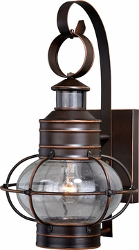 Vaxcel T0249 Chatham Nautical Burnished Bronze Outdoor Motion Light w/ Photocell