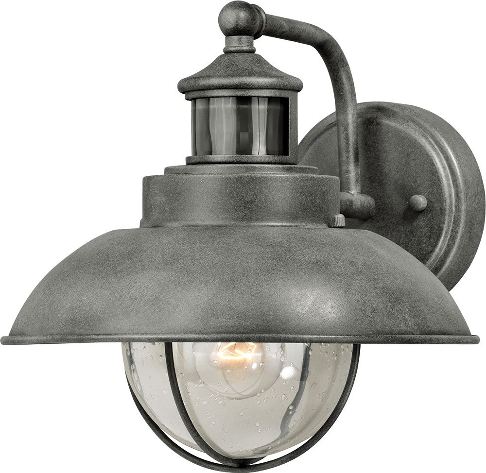 Vaxcel T0261 Harwich Dualux Textured Gray Exterior Motion