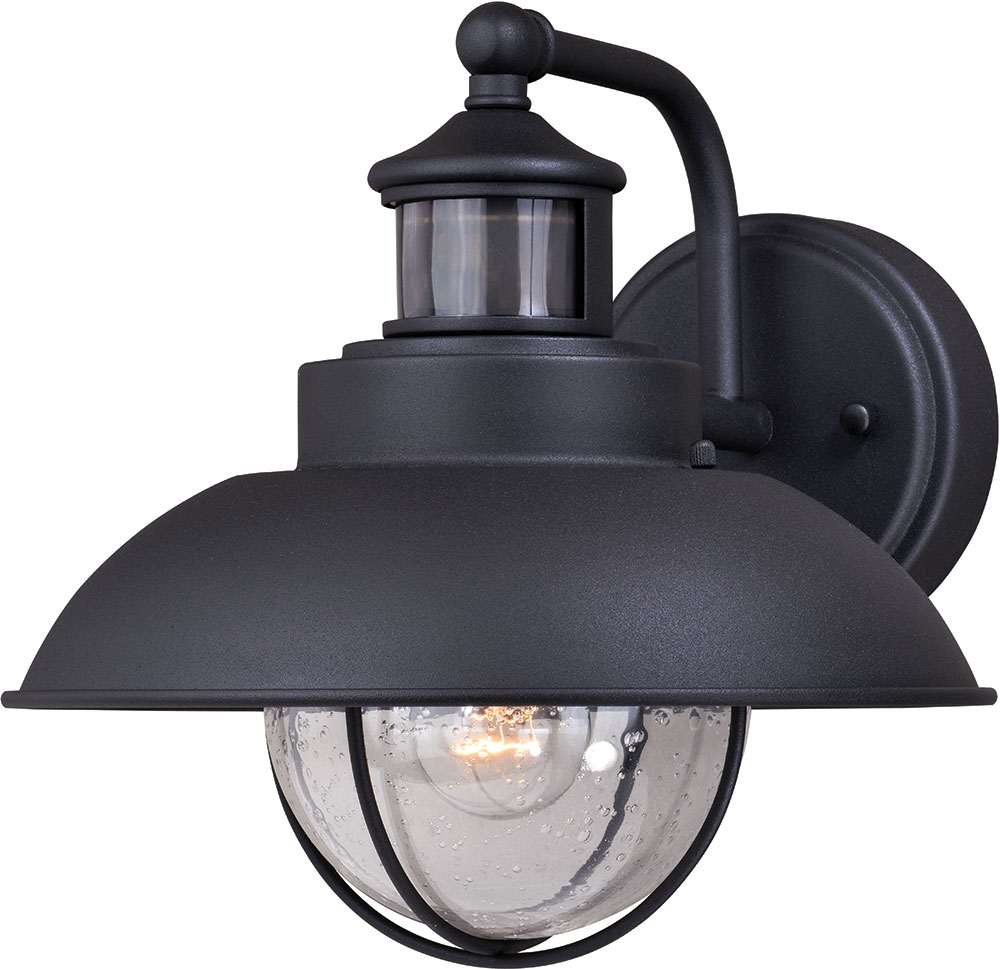 Sensor Light Fixture : Vaxcel t harwich dualux textured black outdoor motion
