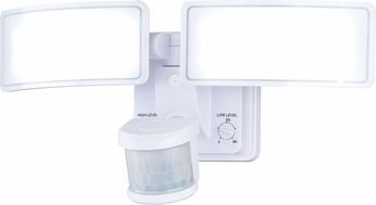 Vaxcel T0274 Gamma 2 Dualux Contemporary White LED Outdoor Motion Sensor Flood Light Fixture