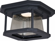 Vaxcel T0313 Freeport Contemporary Textured Black LED Outdoor Ceiling Lighting