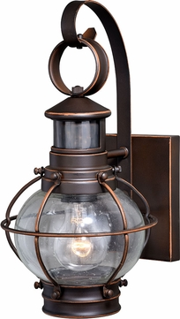 Vaxcel T0326 Chatham Nautical Burnished Bronze Exterior Motion Detector Light w/ Photocell