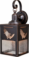 Vaxcel T0334 Missoula Retro Burnished Bronze Exterior Sconce Lighting w/ Photocell