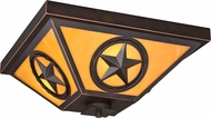 Vaxcel T0336 Ranger Retro Burnished Bronze Exterior Ceiling Light Fixture