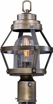 Vaxcel T0341 Bruges Vintage Parisian Bronze Outdoor Post Lighting w/ Photocell