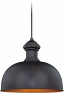 Vaxcel T0346 Franklin Modern Oil Burnished Bronze Inner Light Gold Exterior Drop Lighting Fixture