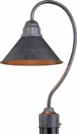 Vaxcel T0348 Outland Modern Outer Aged Iron with Inner Light Gold Exterior Post Lamp