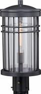 Vaxcel T0360 Wrightwood Contemporary Vintage Black Outdoor Lamp Post Light
