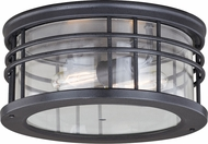 Vaxcel T0361 Wrightwood Modern Vintage Black Exterior Ceiling Lighting Fixture