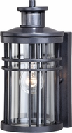 Vaxcel T0366 Wrightwood Contemporary Vintage Black Outdoor Motion Sensor Wall Sconce