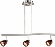 Vaxcel TP53403SN Modern Satin Nickel Halogen 3L Spot Light Pendant w/Dark Umbra Glass