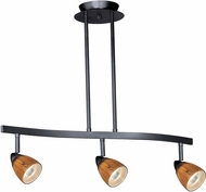 Vaxcel TP53407DB Contemporary Dark Bronze Halogen 3L Spot Light Pendant w/Honey Ripple Glass