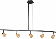 Vaxcel TP53418DB Contemporary Dark Bronze Halogen 5L Spot Light Pendant w/Creme Cognac Glass