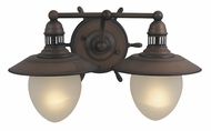 Vaxcel VL25502RC Orleans Country Antique Red Copper Finish 11  Wide 2-Light Bathroom Sconce