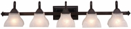 Vaxcel VL26305OBB Cardiff Oil Burnished Bronze 5-Light Bathroom Lighting Sconce