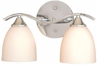 Vaxcel VL27652CH Avant Garde Chrome 2-Light Bathroom Sconce Lighting