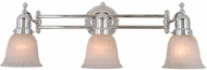 Vaxcel VL28963CH Swing Arm Chrome Finish 7.75  Wide 3-Light Vanity Light Fixture