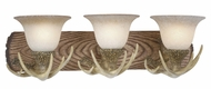 Vaxcel VL33023NS Lodge Rustic Noachian Stone Finish 7.75  Tall 3-Light Vanity Lighting Fixture