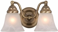 Vaxcel VL35122A Standford Antique Brass 2-Light Bathroom Lighting