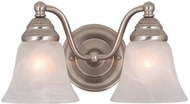 Vaxcel VL35122BN Standford Brushed Nickel 2-Light Lighting For Bathroom