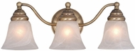 Vaxcel VL35123A Standford Antique Brass 3-Light Bathroom Lighting Fixture