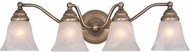 Vaxcel VL35124A Standford Antique Brass 4-Light Bath Lighting Fixture