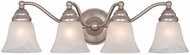 Vaxcel VL35124BN Standford Brushed Nickel 4-Light Bathroom Light Fixture