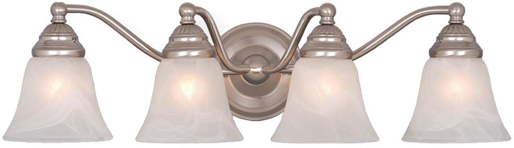 Bathroom Light Fixtures In Brushed Nickel vaxcel vl35124bn standford brushed nickel 4-light bathroom light