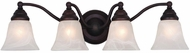 Vaxcel VL35124OBB Standford Oil Burnished Bronze 4-Light Bathroom Vanity Lighting