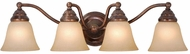 Vaxcel VL35124RBZ Standford Royal Bronze 4-Light Bathroom Vanity Light