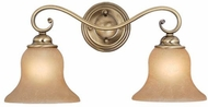 Vaxcel VL35472A-C Monrovia Antique Brass 2-Light Bathroom Sconce