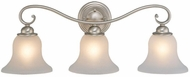 Vaxcel VL35473BN Monrovia Brushed Nickel 3-Light Bathroom Vanity Light Fixture