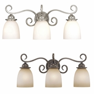 Vaxcel VL35923 Mont Blanc 10  Tall 3-Light Lighting For Bathroom