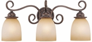 Vaxcel VL35923AZ-B Mont Blanc Aztec Bronze 3-Light Bath Lighting Sconce