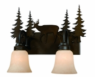Vaxcel VL55402BBZ Bryce Rustic Burnished Bronze Finish 13.75  Tall 2-Light Bath Lighting Fixture