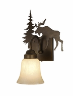 Vaxcel VL55601BBZ Yellowstone Country Burnished Bronze Finish 7.75  Wide Wall Light Sconce